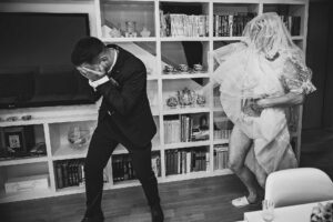 Svatební fotografie falešné nevěsty