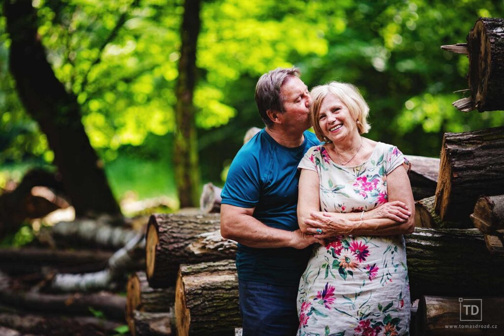 Rodinná fotografie fotografa Tomáše Drozda v Bělském lese Ostrava