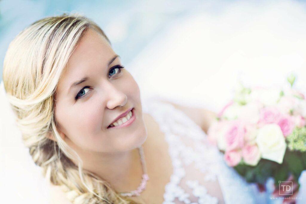 Svatební fotografie nevěsty od fotografa Tomáše Drozda